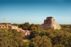 Ruins of Uxmal - ancient Maya city. Yucatan.  Mexico stock photos