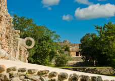 Ruins of Uxmal - ancient Maya city. Yucatan.  Mexico Royalty Free Stock Images