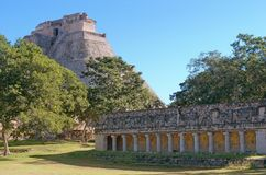 Ruins of Uxmal - ancient Maya city. Yucatan.  Mexico royalty free stock image