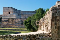Ruins of Uxmal - ancient Maya city. Yucatan.  Mexico stock photography