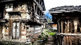 Ruins in the valley. Yamnotri Royalty Free Stock Photos