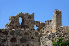 Ruins  of the Venetian Castle Stock Images