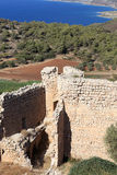 Ruins of venetian castle Stock Image