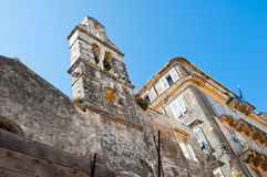 Ruins of the Venetian church in Kerkyra city on the island of Corfu, Greece. Royalty Free Stock Photos