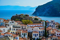 Ruins of Venetian fortress in Skopelos Royalty Free Stock Photography