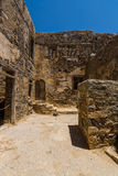 The ruins of the Venetian fortress on Spinalonga island. Stock Photo