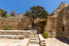 The ruins of the Venetian fortress on Spinalonga island. Stock Images