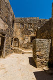 The ruins of the Venetian fortress on Spinalonga island. Stock Image