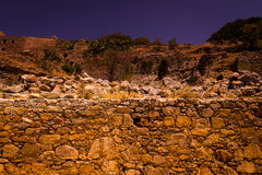 The ruins of the Venetian fortress on Spinalonga island. Royalty Free Stock Image