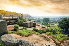 Ruins of Vijayanagara Empire in Hampi, India Royalty Free Stock Images