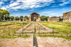 Ruins at VIlla Adriana (Hadrian's Villa), Tivoli, Italy Royalty Free Stock Images