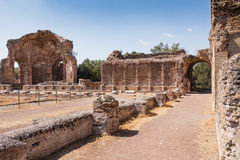 Ruins of Villa Adriana near Rome, Italy Royalty Free Stock Image