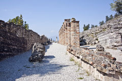 Ruins of the villa of catullus stock image