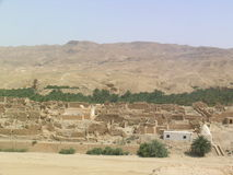 Ruins of village. Ruins of Berber village in Tamerza (Tunisia royalty free stock image