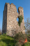 Ruins of the village of Castelnuovo Stock Image