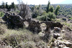 The ruins of the village of the Maronites Stock Image