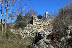 The ruins of the village of the Maronites Stock Photo