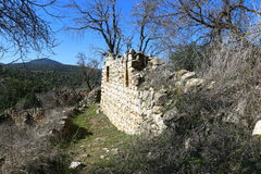 The ruins of the village of the Maronites Royalty Free Stock Photography