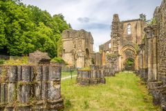 Ruins of Villers devant Orval monastery in Belgium Royalty Free Stock Images