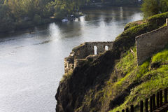 Ruins of the Vysehrad fortress in Prague Stock Image