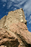 The ruins of the wall in Balaklava Royalty Free Stock Photo