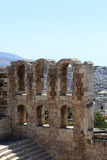 Ruins of wall of Odeon of Herodes Atticus Stock Image