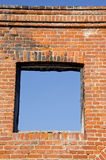 Ruins wall with windows hole Royalty Free Stock Photography