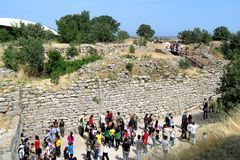 The ruins of the walls of Troy (Truva) Truva Stock Image