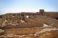 Ruins of warehouse in Masada fortress Stock Image