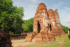 Ruins of the wat Royalty Free Stock Photography