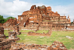 Ruins of the wat Stock Photo