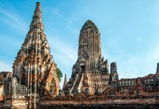 Ancient ruins in central Thailand royalty free stock photo