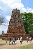 Ruins at Wat Maha That in Ayutthaya Stock Photos