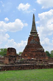 Ruins at Wat Maha That in Ayutthaya Royalty Free Stock Images