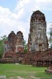 Ruins at Wat Maha That in Ayutthaya Stock Photo