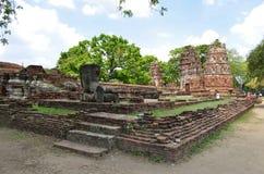 Ruins at Wat Maha That in Ayutthaya. Thailand royalty free stock images