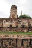 The ruins of Wat Maha That, Ayutthaya, Thailand. The ruins of Wat Maha That (Temple of the Great Relics), a Buddhist temple in Ayutthaya, Thailand Royalty Free Stock Image