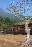 Ruins of the Wat Phu Temple Laos Stock Photography