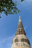 The ruins of Wat Yai Chai Mongkon. A Buddhist temple in Ayuttaya, Thailand Stock Image