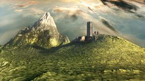 Ruins of a watchtower Royalty Free Stock Image