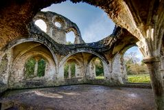 Ruins of Waverley Abbey, Surrey. Stock Photo