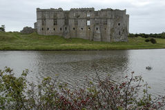 Ruins of Welsh Castle on Lake Royalty Free Stock Photography