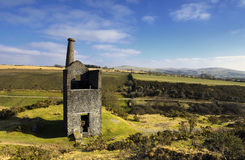 Wheal Betsy Engine House in Devon. The ruins of Wheal Betsy Engine House in Devon Royalty Free Stock Image