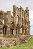 Whitby abbey ruin, yorkshire, uk. The ruins of Whitby Abbey in Yorkshire, famous for providing inspiration for Bram Stoker`s Dracula on an overcast day in Royalty Free Stock Photography