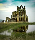 Ruins of Whitby Abby North Yorkshire, England Royalty Free Stock Photos