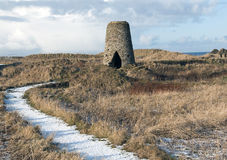 Ruins of a Windmill. Casletown, Caithness, Scotland Stock Image