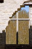 Ruins of a Window and Building Royalty Free Stock Photography