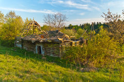 Ruins of the wooden house Royalty Free Stock Photography