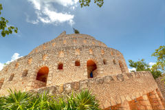 Ruins in Xcaret, Mexico Royalty Free Stock Photography