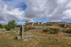 Castelo Mendo, historical village inte the district of Guarda. P royalty free stock images